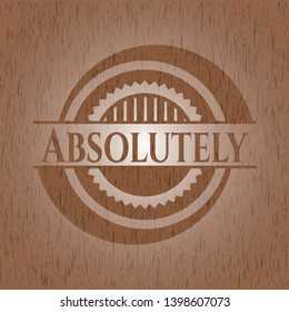 Absolutely wooden signboards. Vector Illustration.