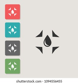 Absorption - vector icon. Symbol for web, infographics, print design and mobile UX/UI kit. Vector illustration, EPS10.