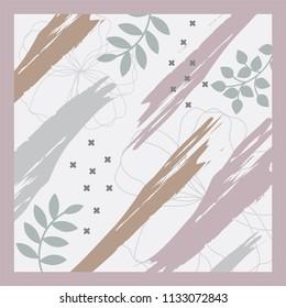 absract brush pattern