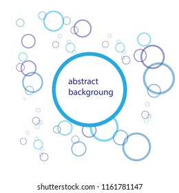 Absract Flat water Bubble Icons Isolated on the white Background. Vector Illustration