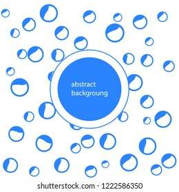 Absract Flat water Bubbles Isolated on the white Background. Vector Illustration