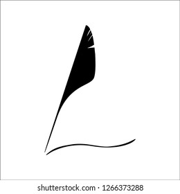 absract quill logo design,quill logo template,illustration