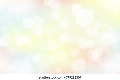 Abstact bokeh colorful pastel background