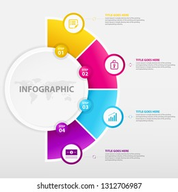 Abstact infographics design. vector, illustration