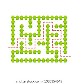 Abstact labyrinth. Game for kids. Puzzle for children. Maze conundrum. Find the right path. Color vector illustration.