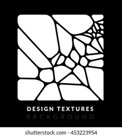 Abstact voronoi design vector background