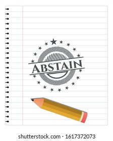Abstain pencil draw. Vector Illustration. Detailed.