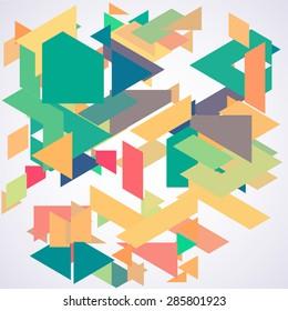 Abstarct geometric background. Pattern.