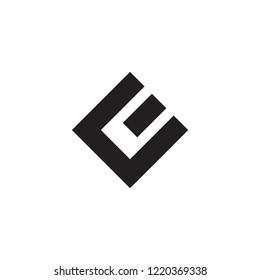 abstarct letter ce geometric square logo