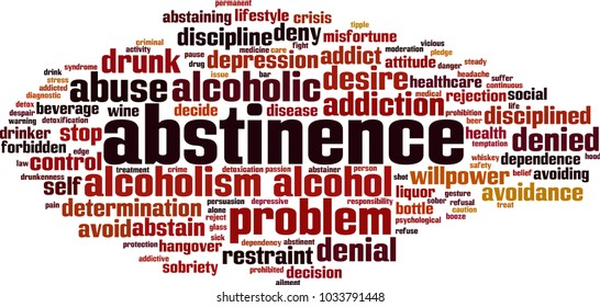 Abstinence word cloud concept. Vector illustration