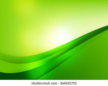 Abstra background green curve and layed element vector illustration eps10