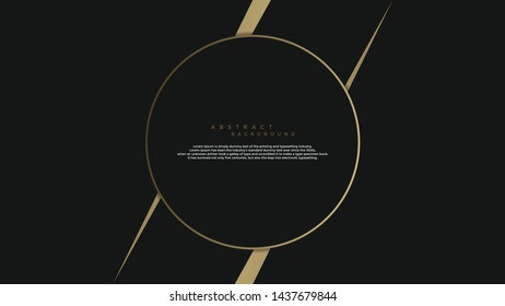 Abstrac background black and gold colorful wallpaper