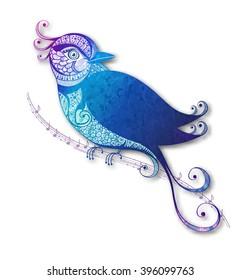 Abstrac bird. Vector illustration, EPS 10