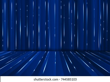 Abstrac digital lazer line science fiction matrix dark blue perspective background, Vector illustration