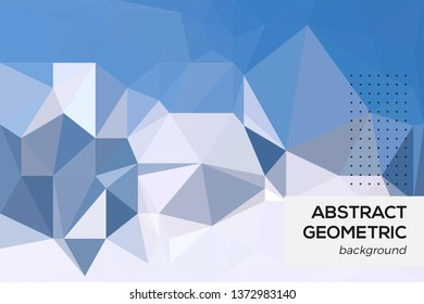 Abstrac Geometric Background. Polygonal Mosaic Background. Low Poly Style