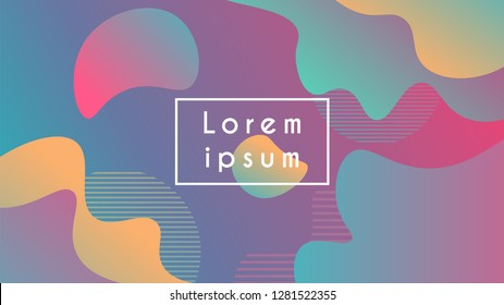Abstrac modern colorful background with fluid shapes . fluid shapes. Vector illustration eps10