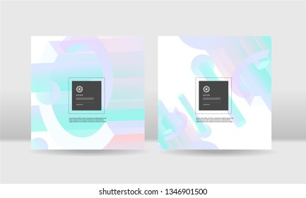 Abstrac neon colorful geometric shape background