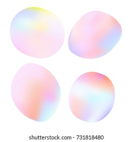 Abstrac rounded blobs. Soft rubber texture bubbles. Good for logo design. Vector illustration
