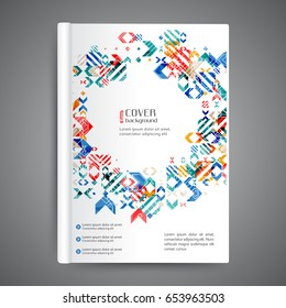 Abstrac template book cover with geometric elements