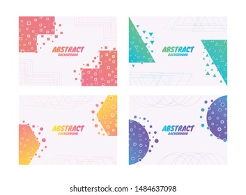 Abstrack background line layer complex with geometric shape. vector illustration