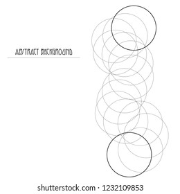 Abstrack background logo with black spiral on the white background