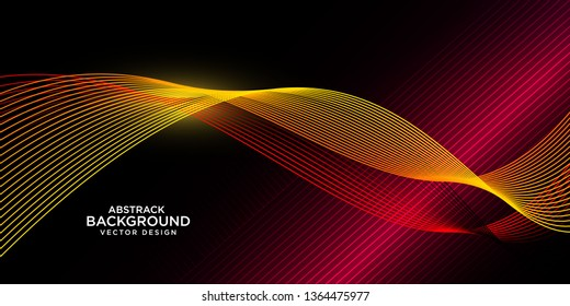 abstrack background with wave style