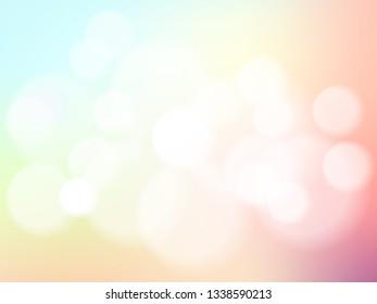 Abstrack blurred bokeh on pastel vintage background.