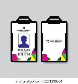 abstrack   Employee ID Card Design Template modern