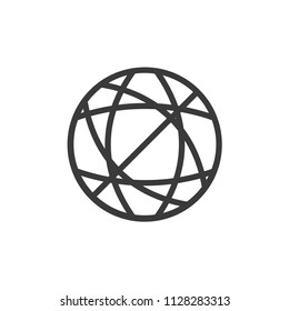 Abstrack line circle globe icon