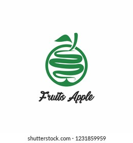 abstrack logo vector for apple fruits