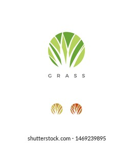 ABSTRACK SIMPLE GRASS LOGO TEMPLATE