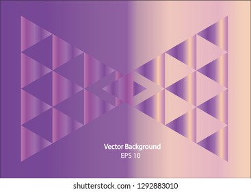 Abstrack trangles elements in purple and white colors,Eps 10,Vector background