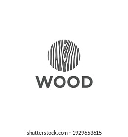 abstrack wooden design that can be used as the letter O
