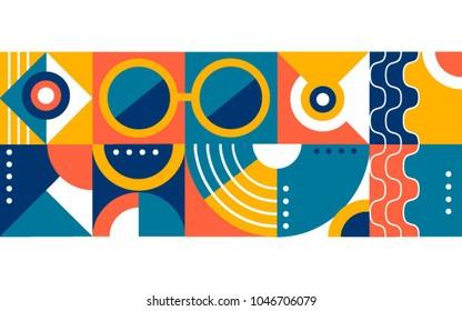 Abstracl flat art background. Modern art
