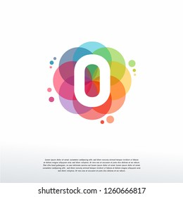 Abstract 0 logo designs concept vector, Colorful Number 0 logo designs