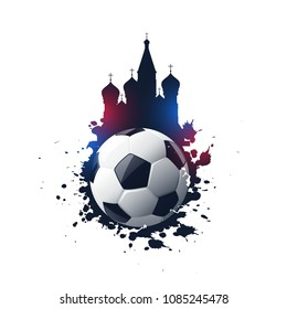 abstract 2018 russia football tournament background