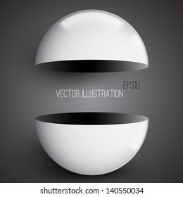 Abstract 3d background with half sphere. Modern background