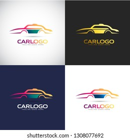 Abstract 3D Car logo Template for your Company Brand