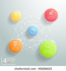 Abstract 3d circle infographic 5 options, Business concept infographic template can be used for workflow layout, diagram, number options.
