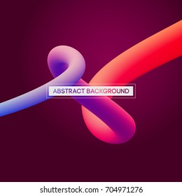 Abstract 3D Colorful Curve Lines Vector Background for Presentation