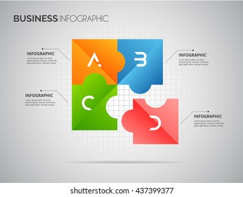 Abstract 3d cube  infographic template. Vector eps10.