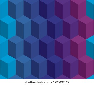 abstract 3d cubes seamless pattern