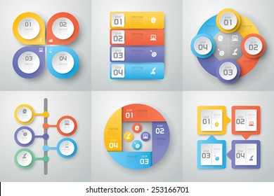 Abstract 3D digital illustration Infographic. Vector illustration can be used for workflow layout, diagram, number options, web design. Business concept with 3, 4 options, Abstract background.