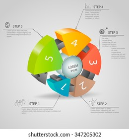 Abstract 3D digital  Infographic design.Can be used for  banner, diagram, number options, step up options, web design.