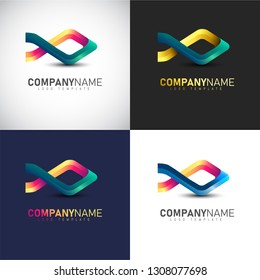 Abstract 3D Fish logo Template for your Company Brand
