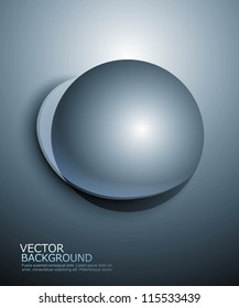 Abstract 3d globe sphere shiny icon vector