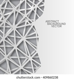 Abstract 3D Paper background with a place for an inscription. Vector