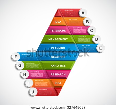abstract 3 d pyramid options infographics template stock vector