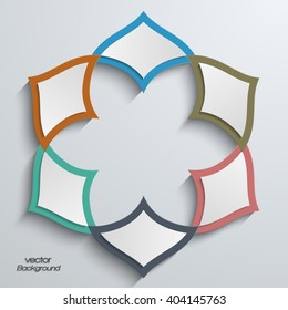 Abstract 3D round shape with Islamic arabesque design