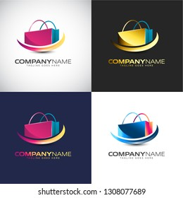 Abstract 3D Shopping logo Template for your Company Brand